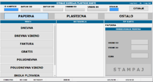 Prikaz softverske aplikacije za prodaju karata na bazenima