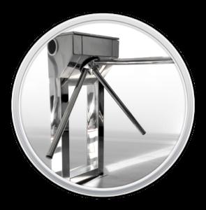 Trokraka barijera - kontrola mehanizma sa NFC 2DQR barkod čitačem